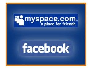 MySpace og Facebook - populære sosiale sider