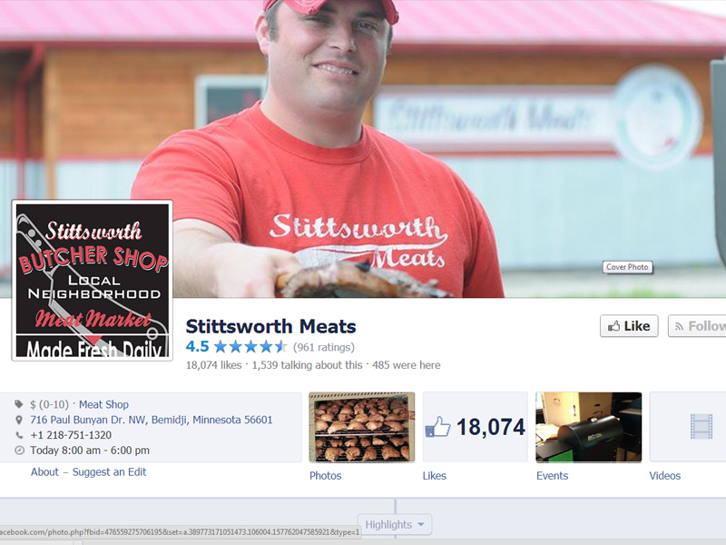 Stittsworth Meat sin Facebookside